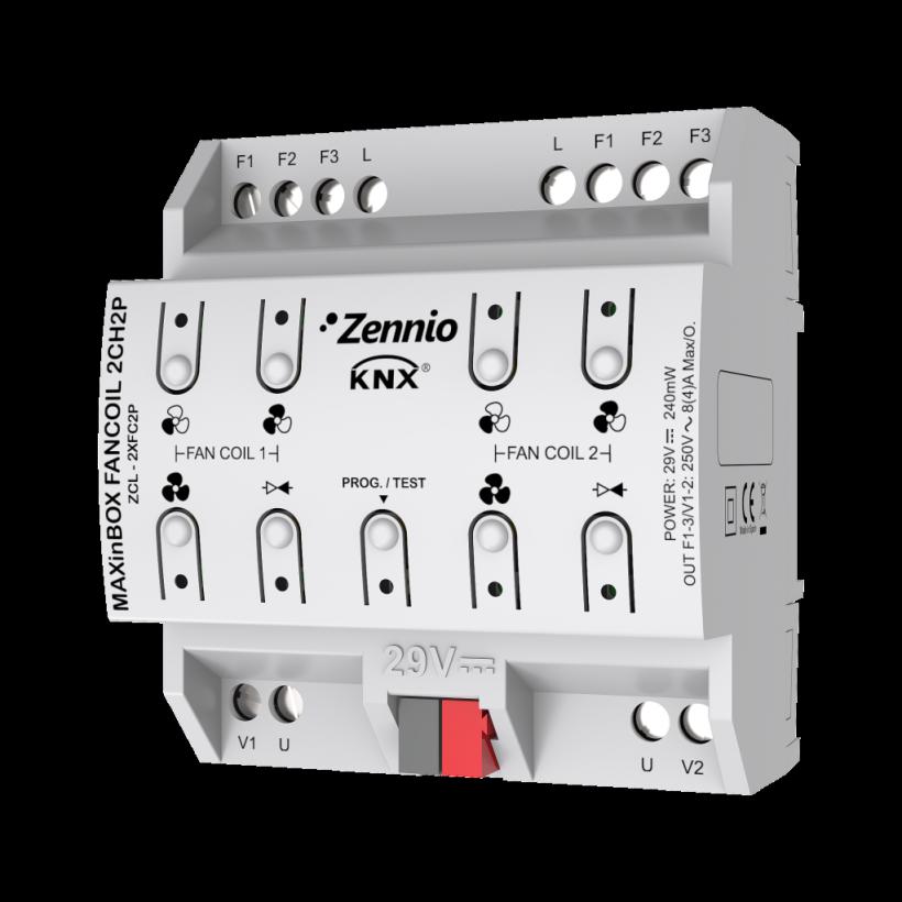 MAXinBOX FANCOIL 2CH2P (Контроллер KNX для 2-х трубных фанкойлов, 2 канальный)